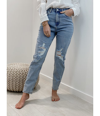 Straight jeans - ripped