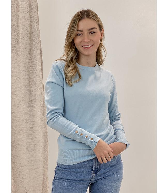 Basic shirt long sleeves - babyblue