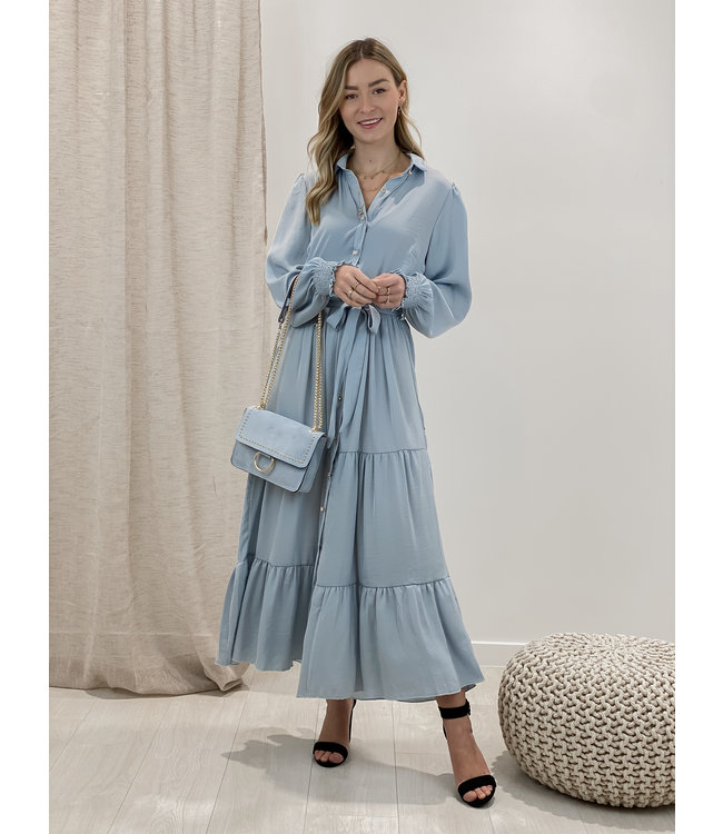 Cecilia dress long - blue