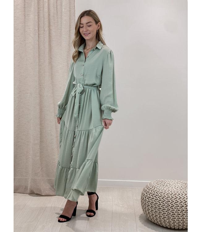 Cecilia dress long - mint