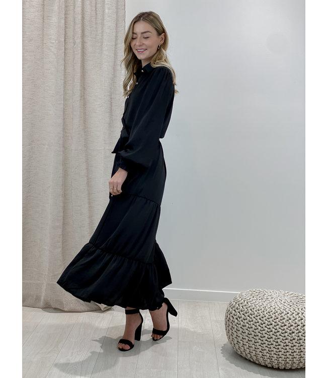 Cecilia dress long - black