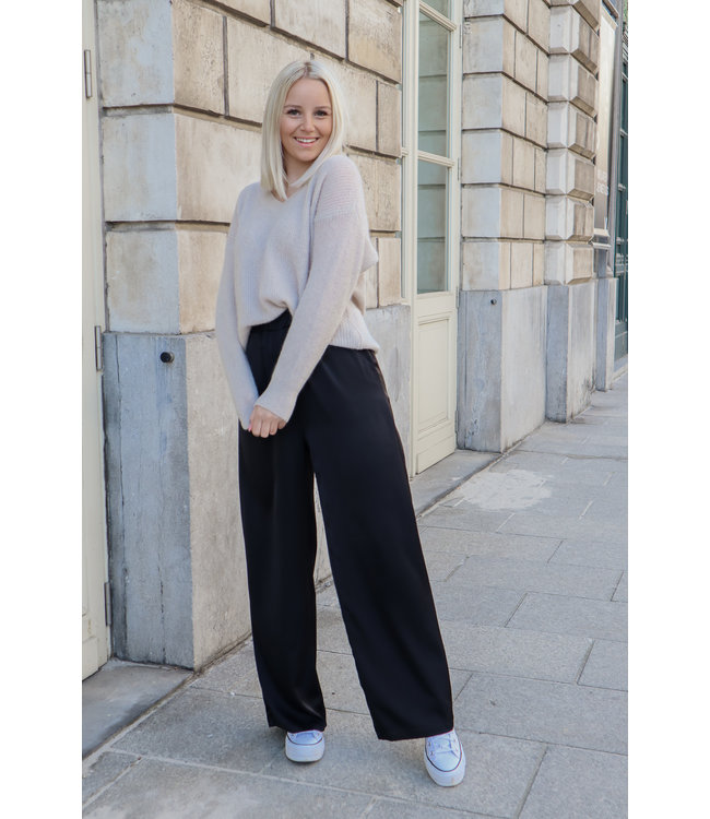 Silk stella trouser - black