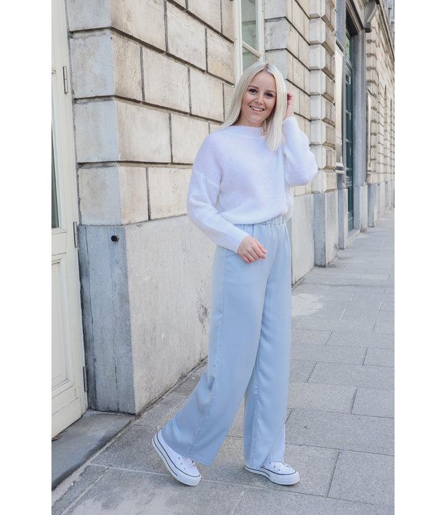 Silk stella trouser - babyblue