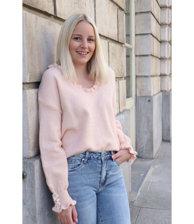 Chloé diamond sweater - peach