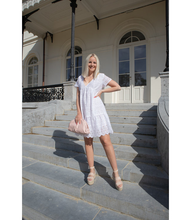 Mandy midi dress - white