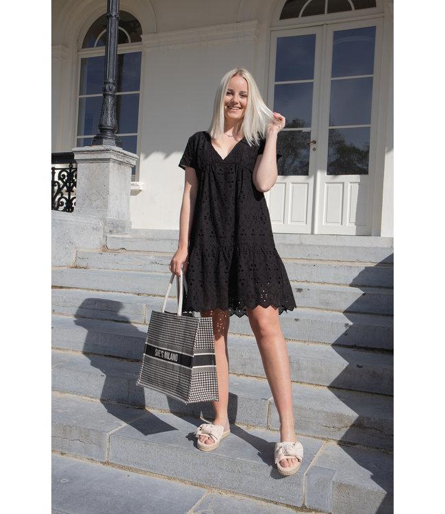 Mandy midi dress - black