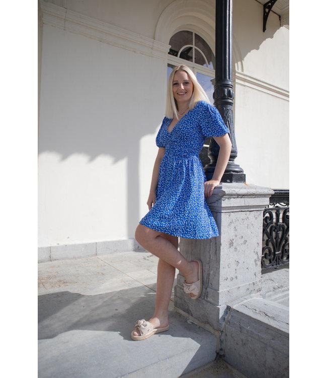 Julia dotted dress - blue