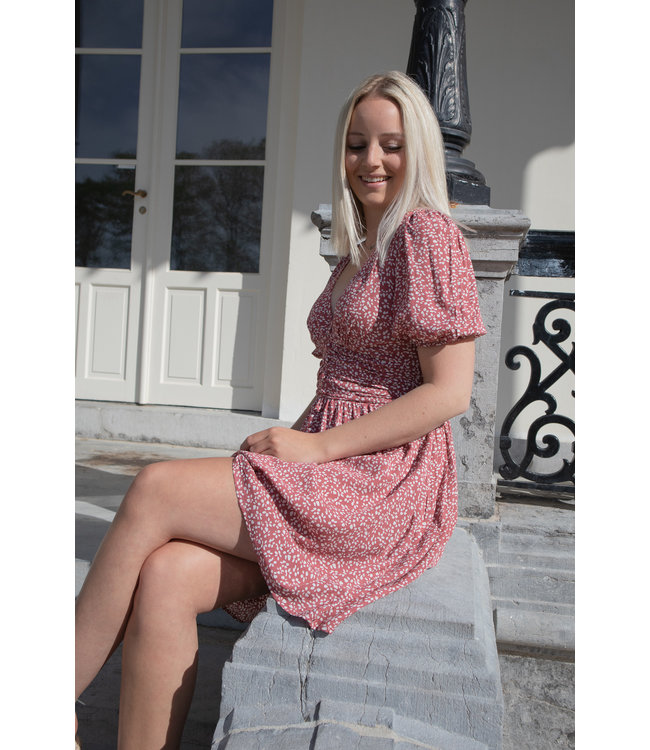 Julia dotted dress - maroon