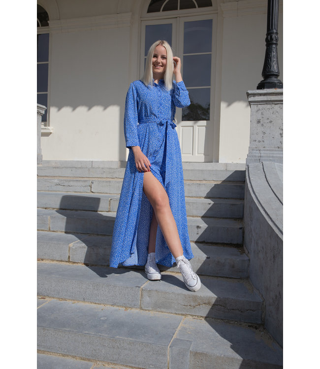 Maxi dots dress - blue