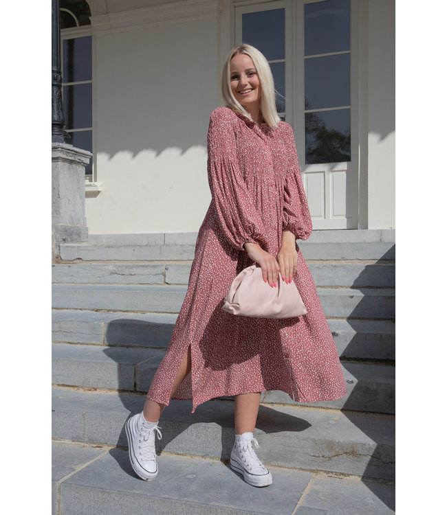 Inaya dress - maroon