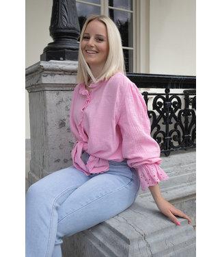 Tetra fringle blouse - pink
