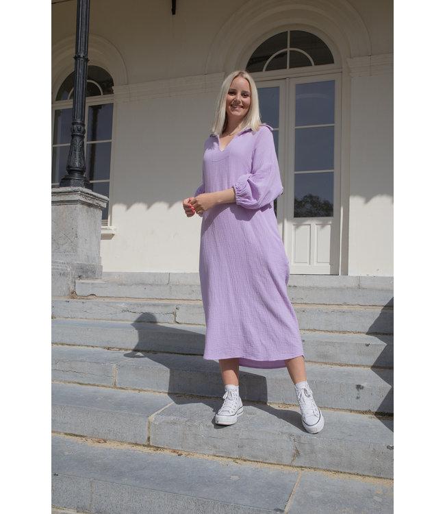 Oversized tetra dress - lila