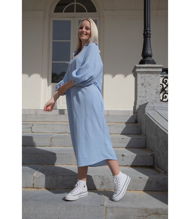 Oversized tetra dress - babyblue