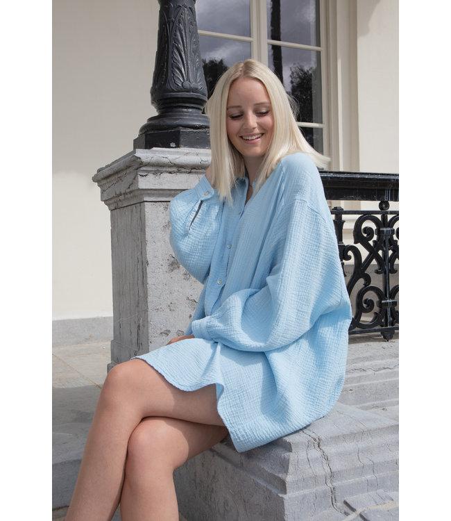 Tetra chemise dress - babyblue