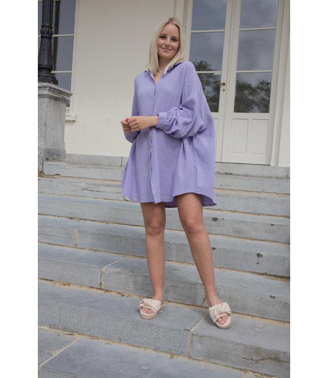 Tetra chemise dress - lila