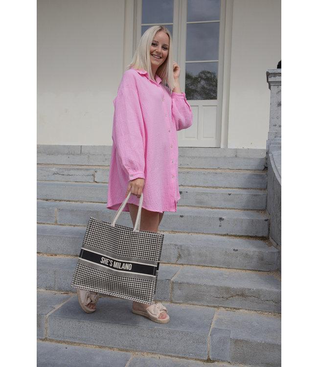 Tetra chemise dress - pink