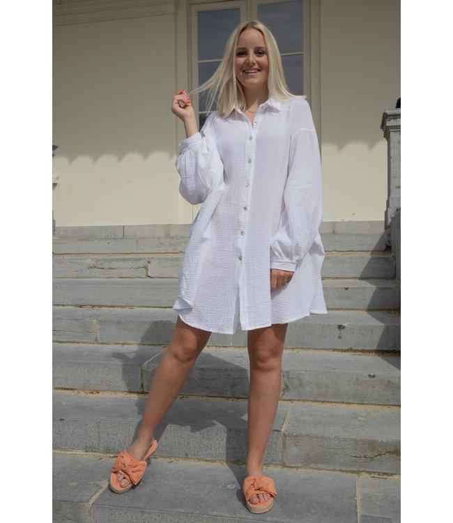 Tetra chemise dress - white