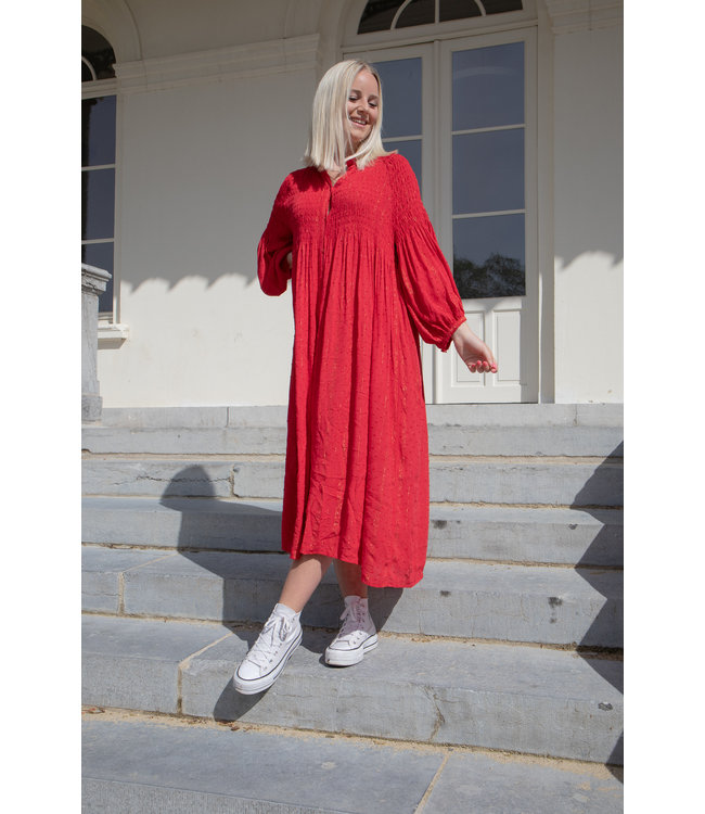 Inaya dress - red