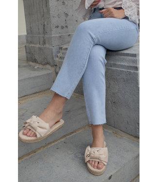 Straight light mom jeans