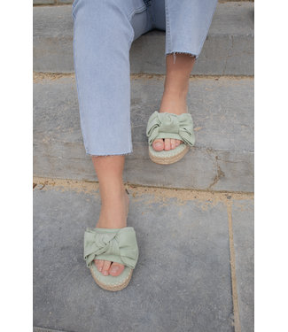 Bow slippers - mint