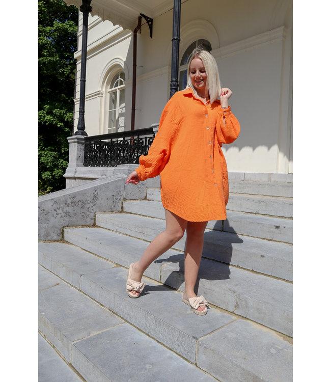 Tetra chemise dress - orange