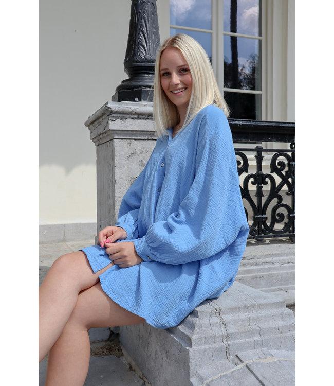 Tetra chemise dress - kobalt