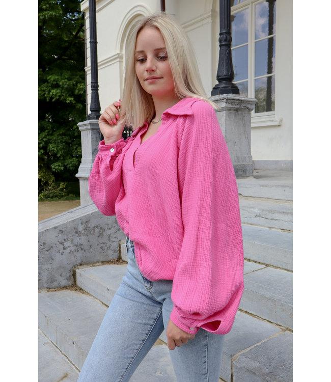 Perfect tetra blouse - fuscia