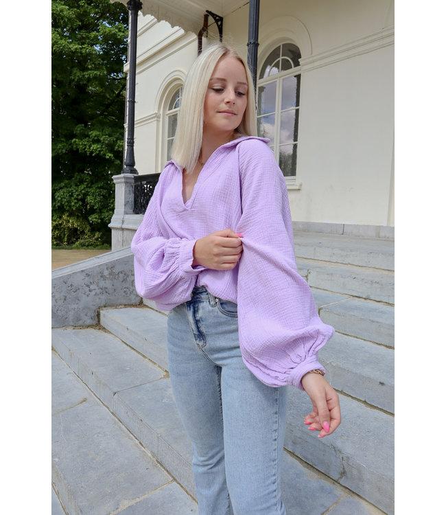 Perfect tetra blouse - lila