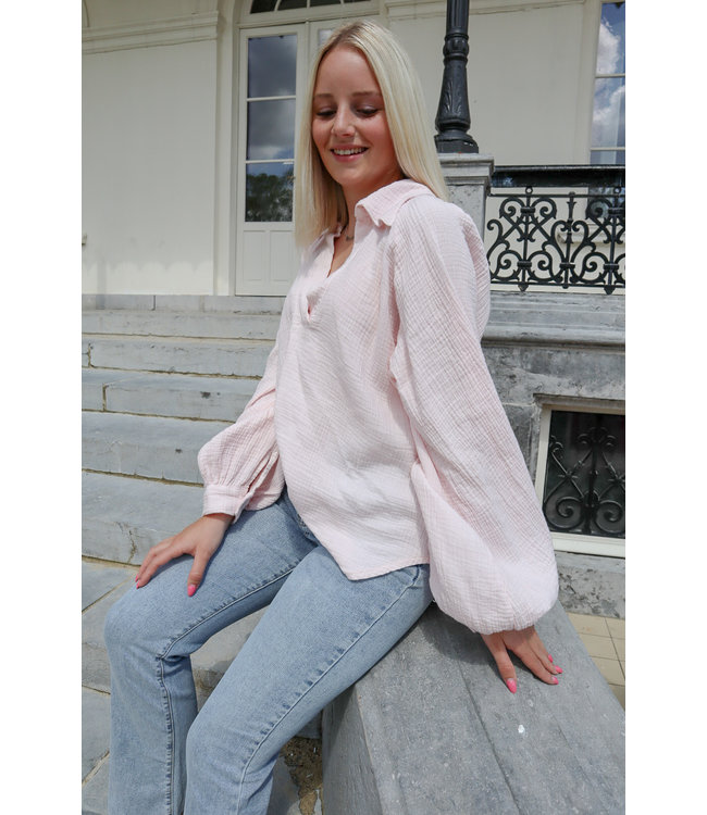 Perfect tetra blouse - soft pink