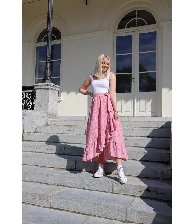 Adore wrap skirt - pink