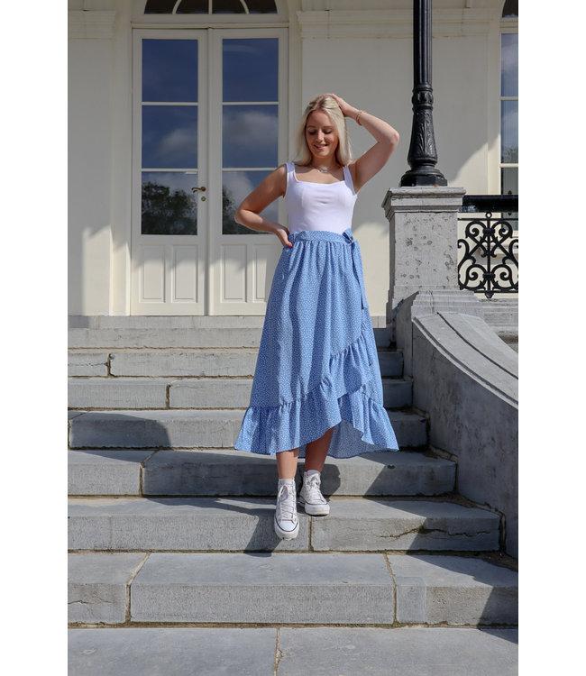 Adore wrap skirt - blue