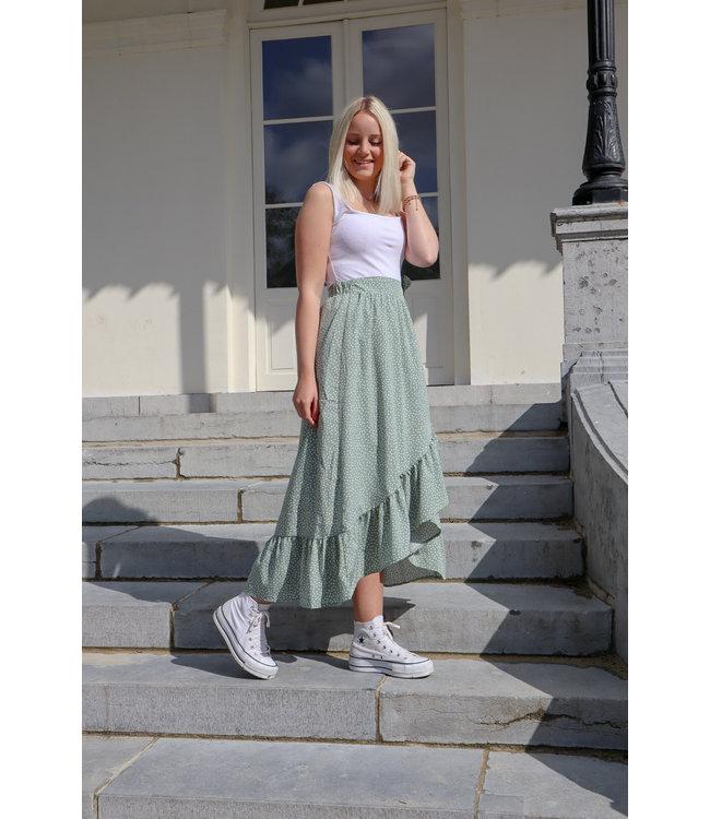 Adore wrap skirt - green