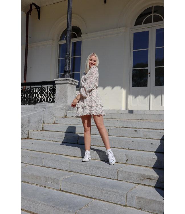 Lala flower dress - white