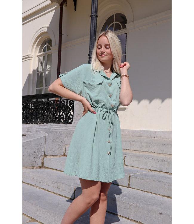 Balmain inspired dress - green