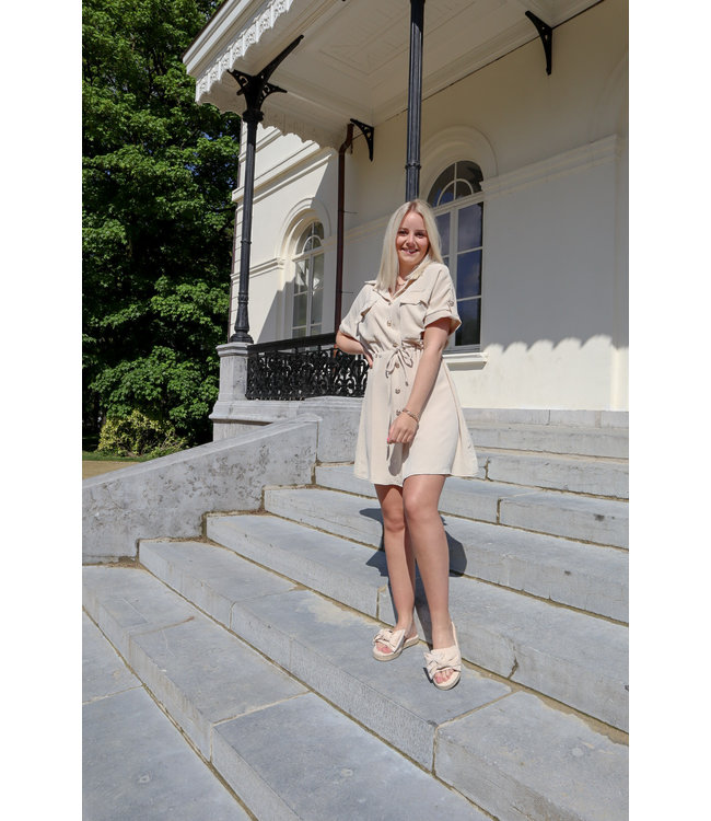 Balmain inspired dress - créme