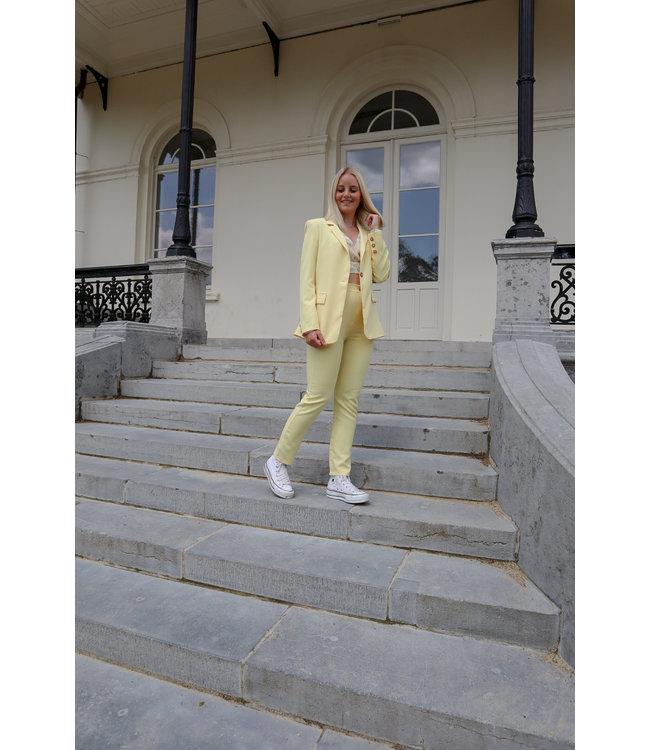 Isa suit SKINNY trouser - yellow