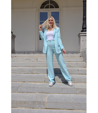 Isa suit WIDE trouser - blue