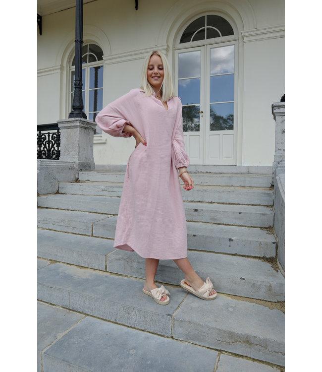 Oversized tetra dress - old pink