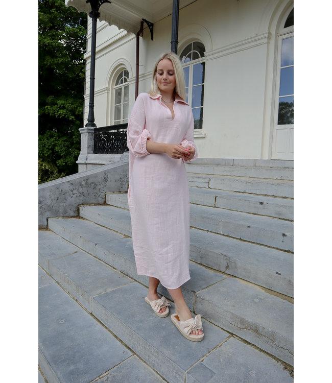 Oversized tetra dress - soft pink