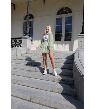 Mila flower skirt - green