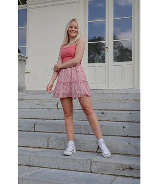 Mila flower skirt - pink
