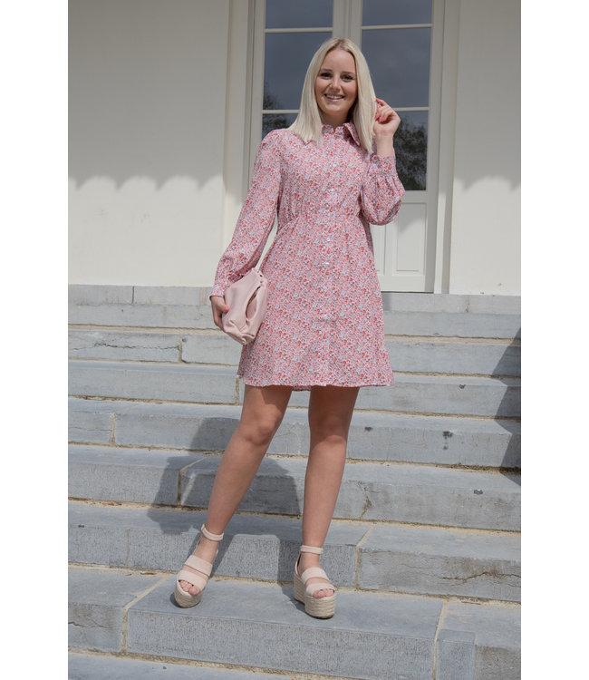Mila flower dress - pink
