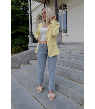 Straight jeans bleached denim