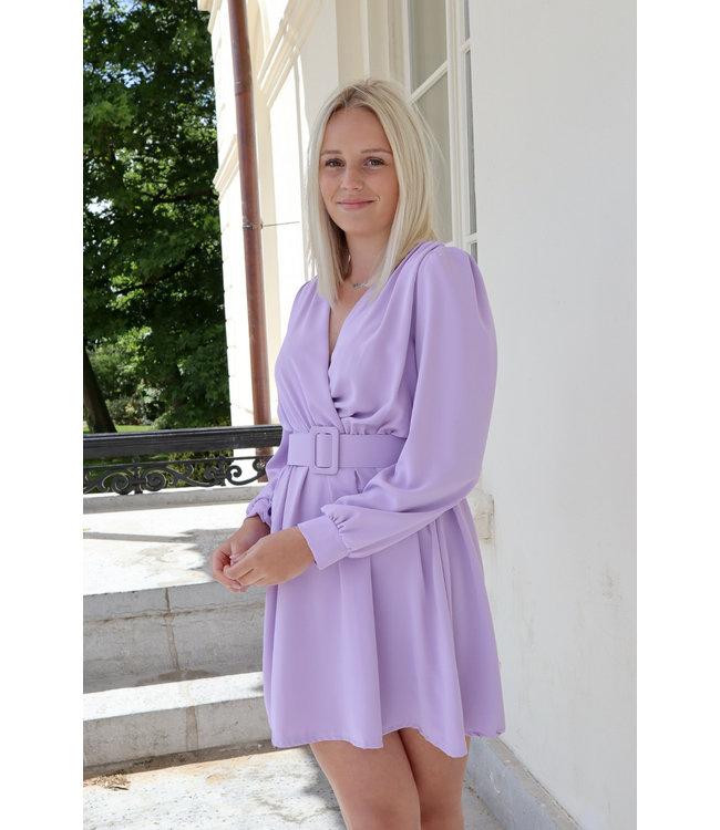 Kiki belt dress - lila