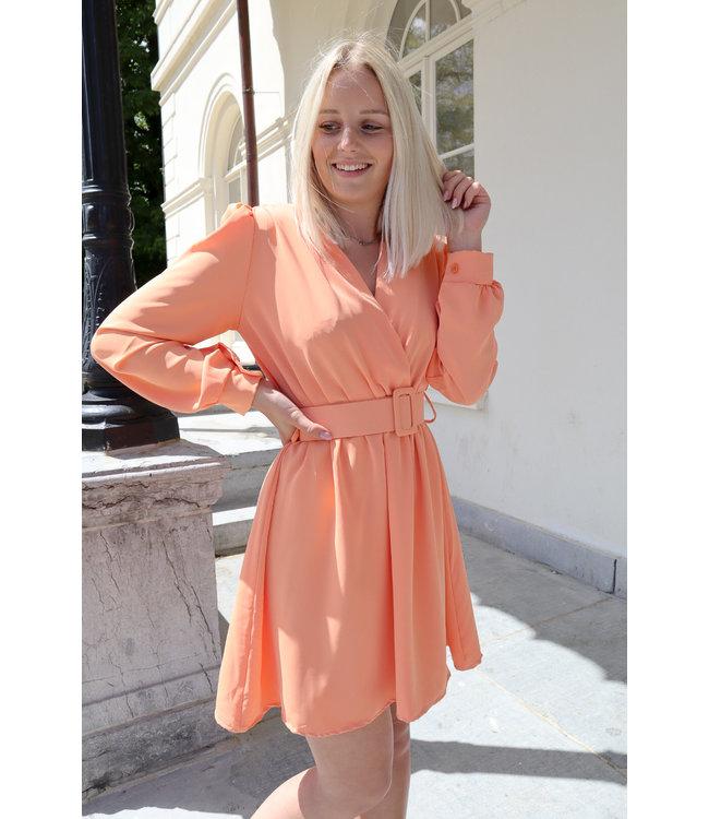 Kiki belt dress - orange