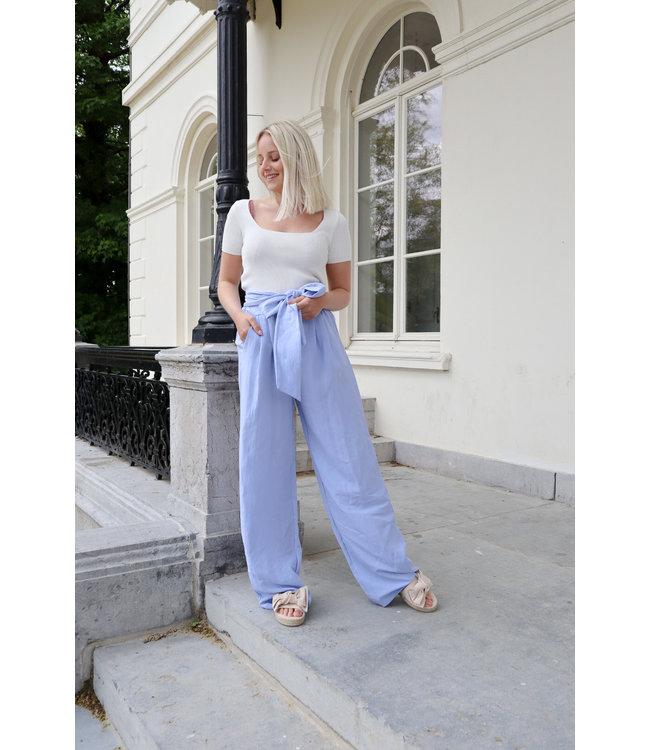 Linen trouser - babyblue