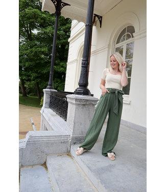 Linen trouser - kaki