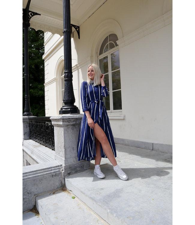 Stripe MAXI dress - dark blue
