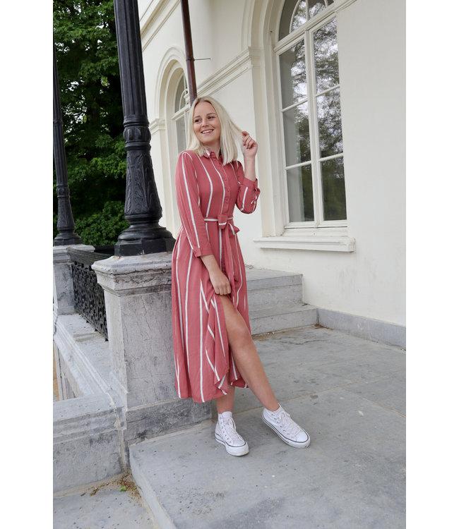 Stripe MAXI dress - maroon