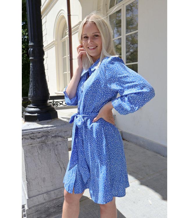 Midi dots dress - blue